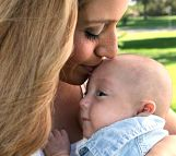 Baby Uriah Fuller kissed by mom