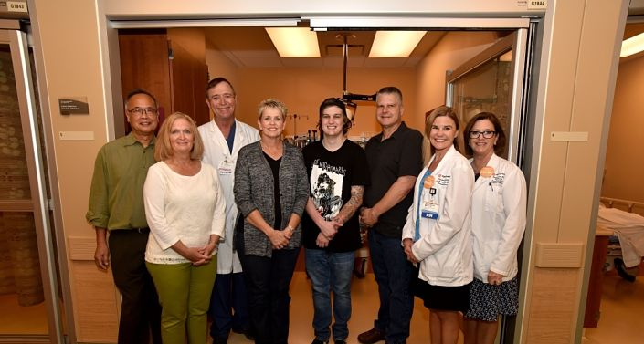 Chun family sponsors Emergency Department room in honor of Caleb Kruse