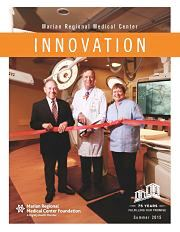 Innovation Magazine Summer 2015 cover; heart center grand opening ribbon cutting