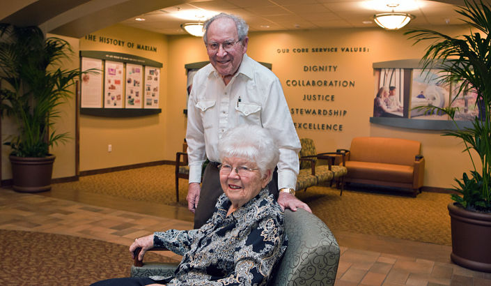 Joe and Jean Olivera at Marian Regional Medical Center