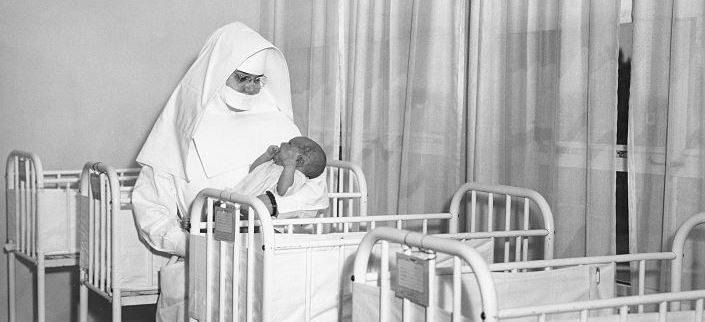 Nun with baby at Our Lady of Perpetual Help Hospital, Marian's predecessor