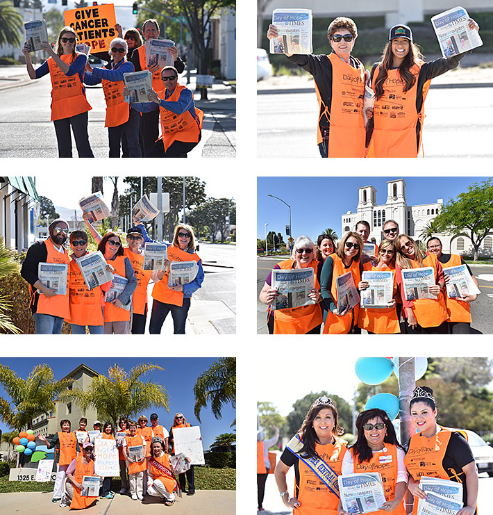 2015 Day of Hope Photos of Teams Selling Newspapers