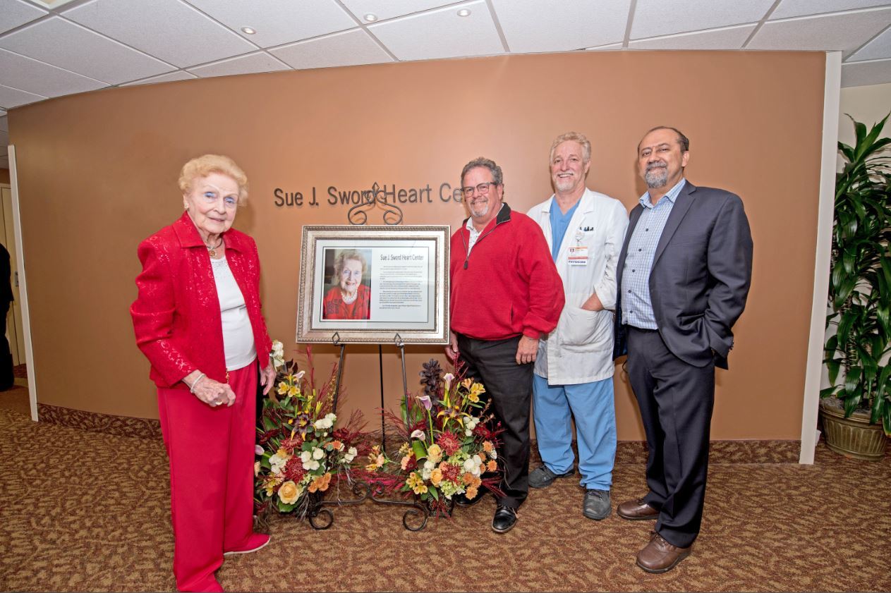 Sue J. Sword with Cardiologists